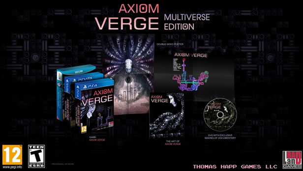 Axiom Verge: Multiverse Edition for PlayStation 4, PlayStation Vita and Nintendo Wii U