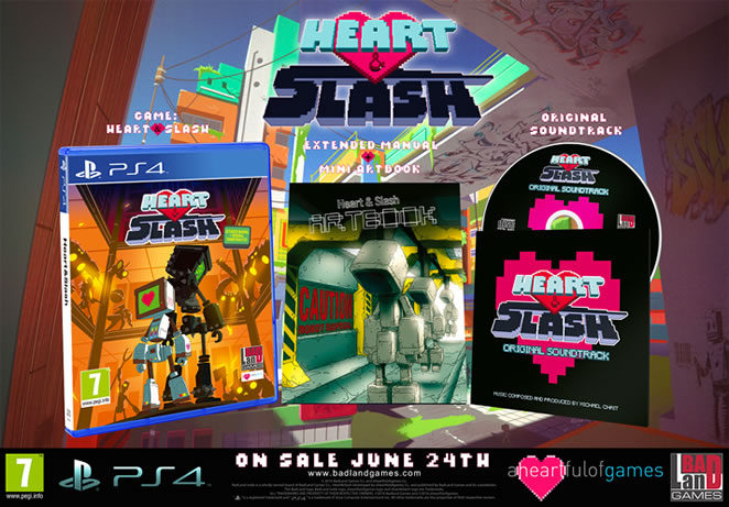 Heart&Slash physical release for PlayStation 4 in UK