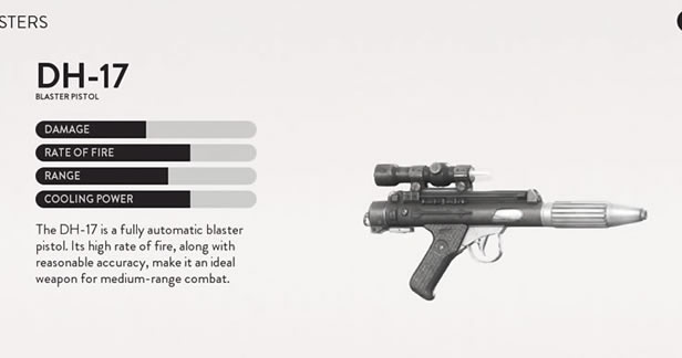 Star Wars Battlefront Beta - Blaster weapon menu
