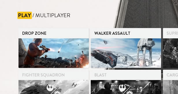 Star Wars Battlefront Beta - Multiplayer menu