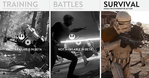 Star Wars Battlefront Beta - Single Player Survival Mode